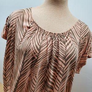 Liz Claiborne Peach short sleeve Blouse